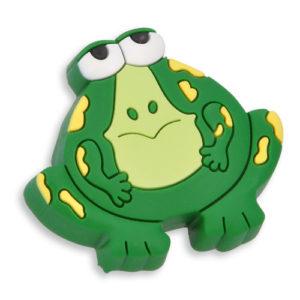 Knott til barnerommet i mykt kunststoff. Figur: frosk i grønn farge.
