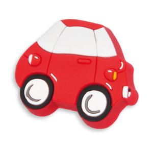 Knott til barnerommet i mykt kunststoff. Figur: bil i rød farge.